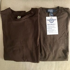 Bamboo organic cotton T-shirt brown